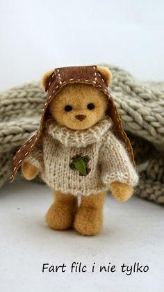 Miś pi.lotnik :)  #polandhandmade #felt #ooak #teddybear #fartfilcinietylko #fartownemisie