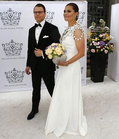 16 June 2016 - Swedish Royal Family attend Polar Music Prize in Stockholm - dress by Ralph Lauren, clutch by Malene Birger, body jewel by H&M