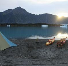 Camping in Alaska.