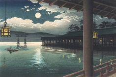 Summer Moon At Miyajima, Tsuchiya Koitsu (Japan, 1870 - 1949)