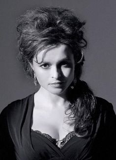 Helena Bonham Carter, wearing her own version of a messy Gibson Girl with Cascade.