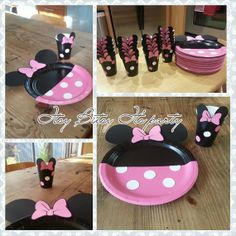 Minnie Mouse Plates (12 Minnie Mouse Polka dot plates) (Minnie Mouse Cups) on Etsy, $18.50