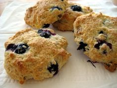 Low-Fat Blueberry Scones (Using Heart Healthy Bisquick Mix). Photo by ...