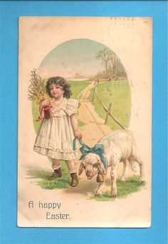 Love this vintage Easter card...such a cute lamb!
