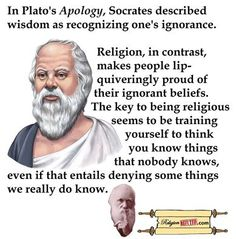 Socrates speaks candidly on the topic of religion. Losing My Religion, Anti Religion, Religious Quotes, Atheist Quotes, Secular Humanism, Athiest, Socrates, Christianity, Quotations