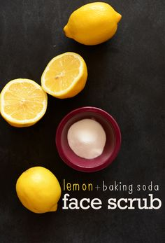 My Little Celebration | A Celebration of Healthy Food and Living: lemon + baking soda face scrub