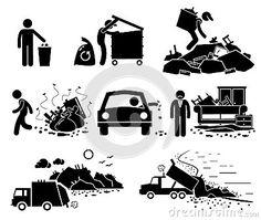 42591f3fe Rubbish Trash Garbage Waste Dump Site Cliparts Icons Poluição De Plástico
