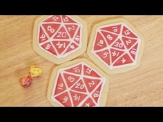 D20 SUGAR COOKIES WITH FELICIA DAY - NERDY NUMMIES - YouTube (recipe, tutorial, and decorating tips)