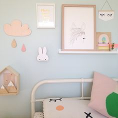 The cutest bunny miffy wall hooks by Charlie & Jae from My Little Lovebird Store.