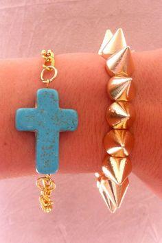 Turquoise Cross Chain