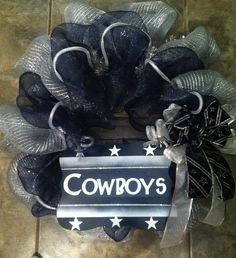 Dallas Cowboys wreath $45 https://www.facebook.com/WildchilddesignsLLC
