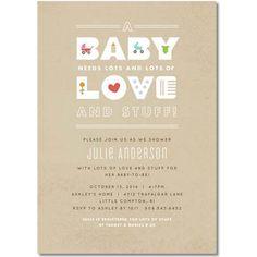 Baby Love Theme Baby Shower Invitation AUBS009