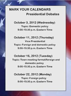 CANNOT WAIT FOR DEBATES!
