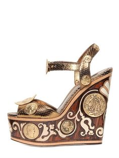 DOLCE & GABBANA - 150MM AYERS INLAID WOODEN WEDGES