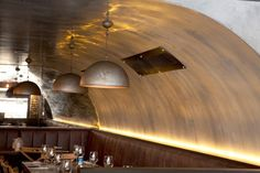 A chain of Italian restaurants in Australia, Criniti\'s, generate a rustic atmosphere with a range of architectural lighting. Copper And Grey, Architectural Lighting Design, Industrial Style Lighting, Wall Lights, Ceiling Lights, Metal Panels, Light Architecture, Light Project, Design Furniture