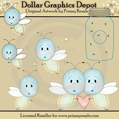 Cute Fireflies - $1.00 : Dollar Graphics Depot, Quality Graphics ~ Discount Prices