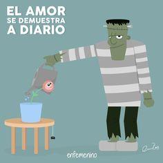No hay nada como un bonito gesto de amor para empezar bien el día... #frasedeldia #Frankenstein