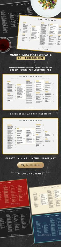 Black Vintage Menu Book Menu, Vintage menu and Menu book - bar menu template