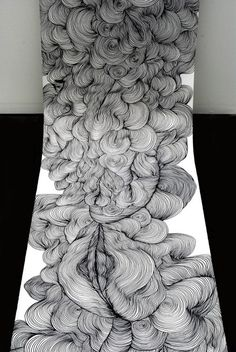 scroll drawing by Sky Kim.