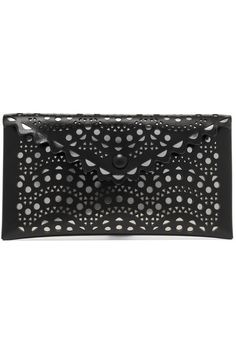 Black and silver leather Snap-fastening front flap Made in Italy