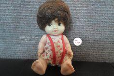 "Vintage 4"" 1966 Uneeda Baby PeeWee Pee Wee Hard Plastic Doll"