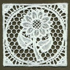FSL Floral Doily 9 - 4x4 | What's New | Machine Embroidery Designs | SWAKembroidery.com Ace Points Embroidery