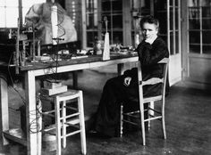 Marie Curie conducted pioneering research on radioactivity, including the discovery of two elements, polonium and radium. She was the first woman to win a Nobel prize and the first female professor at the University of Paris! Marie Curie, Pierre Curie, Indira Ghandi, Aplastic Anemia, Radium Girls, Nobel Prize In Physics, Nobel Prize Winners, Famous Women, Evo