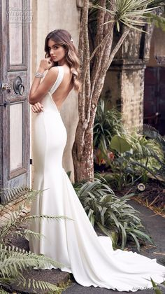 anna campbell 2019 bridal sleeveless halter neck simple embellished waist minimalist elegant fit and flare sheath wedding dress open low back chapel train bv -- Anna Campbell 2019 Wedding Dresses Kate Wedding Dress, Luxury Wedding Dress, Wedding Dress Shopping, Wedding Dress Styles, Designer Wedding Dresses, Bridal Dresses, Wedding Gowns, Australian Wedding Dress Designers, Australian Wedding Dresses
