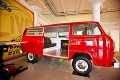 Well this is certainly another different meeting room!!!!  This camper van meeting room comes complete with a wood burning stove!