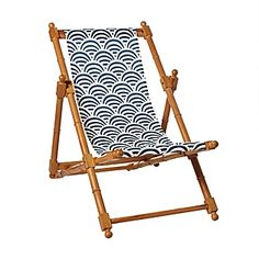 Navy Soleil Sling Chair from Serena & Lily