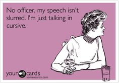 Just talking in cursive!