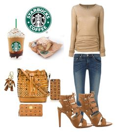 """""""Stopping by at Starbucks....."""" by christinacastro830 ❤ liked on Polyvore featuring MCM, rag & bone, Rick Owens and Dolce Vita"""