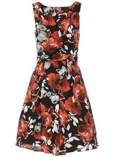 Black & Red rose dress $21
