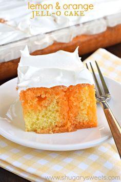 Orange gelatin cake recipe