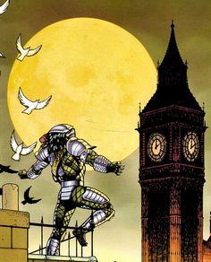 The Predator enjoys the Victorian age London Predator Comics, Predator Series, Alien Vs Predator, Main Character, Alchemist, Aliens, Badass, Pop Culture, Concept Art