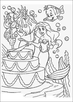 Coloring Pages Of Ariel The Little Mermaid Picture 29 550x770