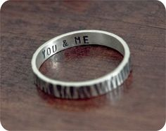 okay so this is one of my current favorite things (someone should tell my husband) :: Sterling Silver You & Me Ring