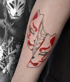 #LxV #tattoo #tatts #novosibirsk #ink  #kitsune #mask Hanya Tattoo, Kitsune Mask, Mask Tattoo, Anime Tattoos, Tattoo Drawings, Tattos, Oriental, Random, Instagram