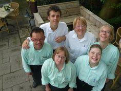 een deel van onze geweldige crew van Hotel Restaurant Abrona