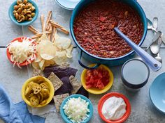 Recipe of the Day: Rachael's Indian Summer Turkey Chili   Mark the start of autumn with a crock of Rachael's spicy, fragrant turkey chili. Steeped with smoky barbecue sauce, frothy beer and all kinds of spices, it's a comforting meal best laid out buffet-style with all kinds of cheeses and toppers.