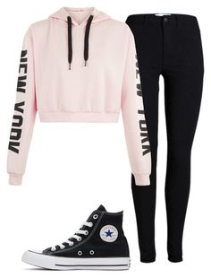 """""""Untitled"""" by folieapanic ❤ liked on Polyvore featuring Converse"""