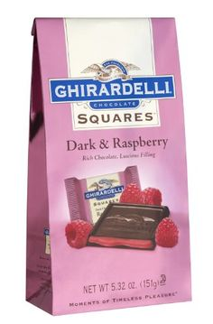 Velvety dark chocolate with raspberry filling made from real fruit to create a chocolate and berry winning combination! Case contains 12 Ghirardelli Dark Chocolate Squares with Raspberry Filling. Raspberry Ice Cream, Raspberry Filling, Raspberry Chocolate, Chocolate Lollies, Valentine Chocolate, Chocolate Treats, Ghirardelli Chocolate Squares, Individually Wrapped Candy, Dessert Drinks