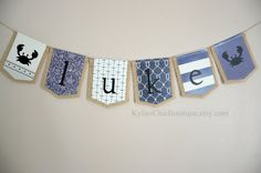Nautical Burlap Banner anchor Bunting Sail by KyliesChicBoutique