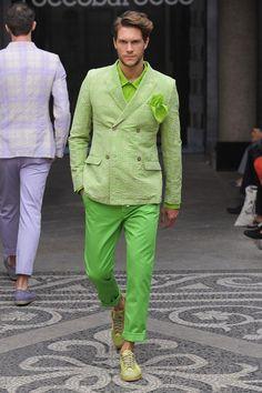 Roccobarocco spring summer 2013 Green Fashion, Fashion Looks, Mode Masculine, Models, Gentleman, Men Dress, Suit Jacket, Menswear, Spring Summer