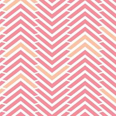 Pink Amor Chevrons - Penelope- Pretty and care free, chevrons and geometric shapes in sorbet colours.
