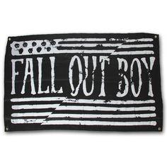 Fall Out Boy : Split Flag Wall Flag I NEED THIS