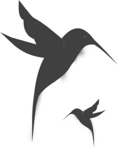 Black Hummingbird Silhouette clip art - vector clip art online, royalty free & public domain