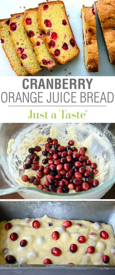 Cranberry Orange Juice Bread recipe via justataste.com | This is the ultimate easy, edible holiday gift!