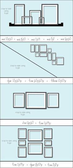 Tips voor een mooie verdeling van de foto's op de muur. | http://anoukdekker.nl/tips-voor-een-mooie-verdeling-van-de-fotos-op-de-muur/
