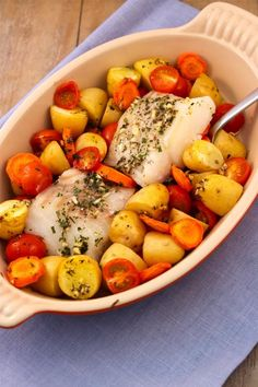Photo by Lekker en Simpel Quick Healthy Meals, Healthy Foods To Eat, Healthy Recipes, Oven Dishes, Fish Dishes, Veggie Recipes, Fish Recipes, Easy Cooking, Cooking Recipes